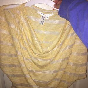 yellow scoop neck top